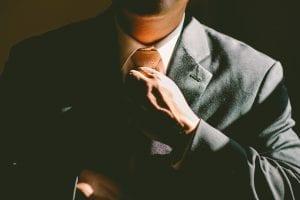 Mann im Business Anzug
