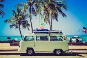 Reise mit VW Bus