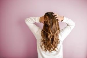 Brünette Haare
